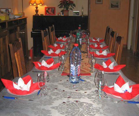 Il était une fois Noël : tables/menu de Noël
