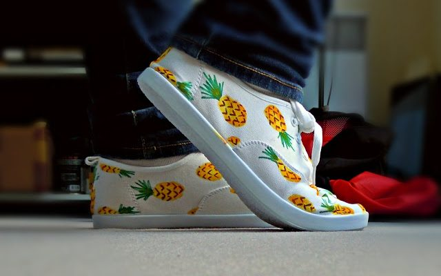 DIY : Chaussures Ananas